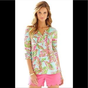 Lilly Pulitzer Tropical Palm Leaf Tunic Large